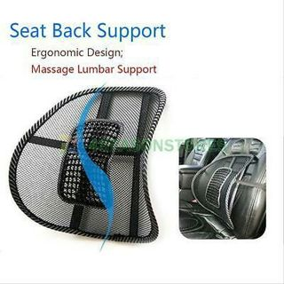 free mesh lumbar lower back support cushion pain relief car seat chair office seat 4. Black Bedroom Furniture Sets. Home Design Ideas
