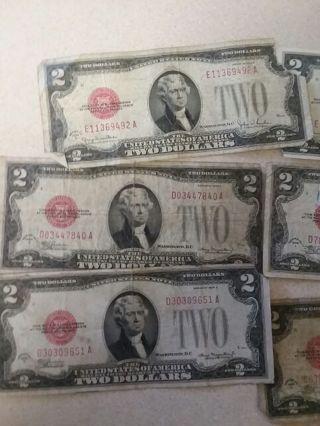 6 1928 2 dollar red seals