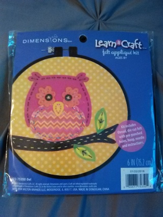 Dimensions Learn A Craft Felt Applique Kit -- NEW!!