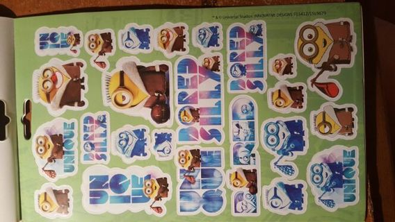 BN sheet of minions stickers