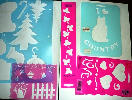 Different Sheets of Holiday Stencils and other