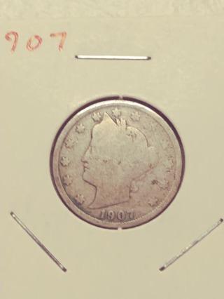 1907 Libery Victory Nickel! 98