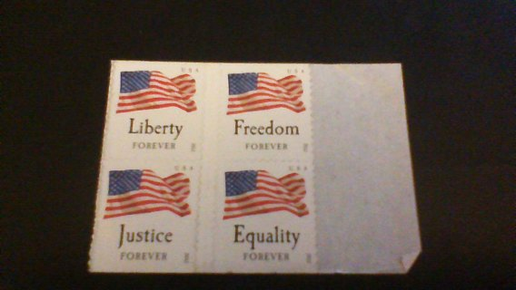 4 American Flag Forever Stamps