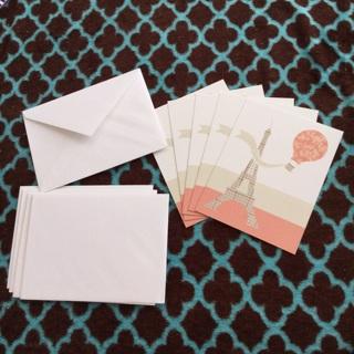 5 Blank Eiffel Tower Cards