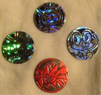 Four Pokemon TCG Coins