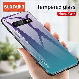 Suntaiho Tempered Glass Case For Samsung Galaxy A50 Note 10 S10 S9 S8 Plus S10e A30 A6 A8 Plus A9