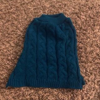 small blue dog sweater