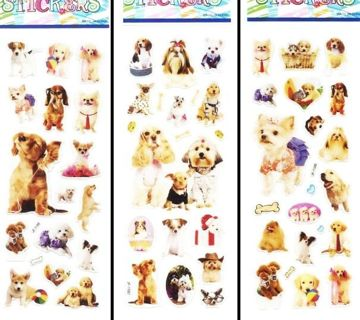 NEW Adorable PUPPIES & SMALL DOGS Stickers FREE SHIPPING