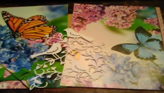 2 Background Design Papers and 1 Die Cut
