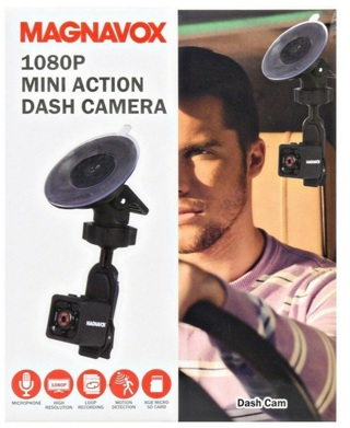 BRAND NEW! Magnavox 1080p Mini Action Dash Camera Includes 8GB Micro SD Card *GIN BONUS*
