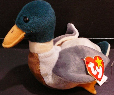 "Ty Beanie Baby Original ""Jake"" The Mallard Duck 1997"