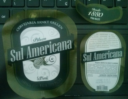 SUL AMERICANA PILSEN beer labels