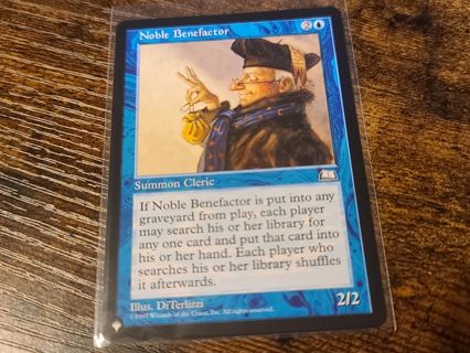 Magic the gathering mtg Noble Benefactor Strixhaven list card