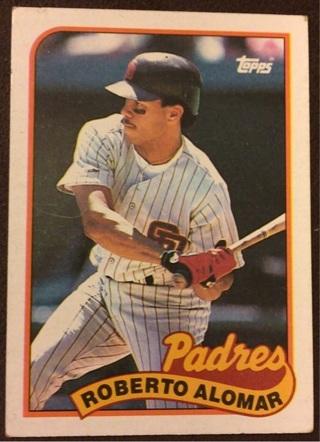 1989 Topps Roberto Alomar Hall of Fame baseball card