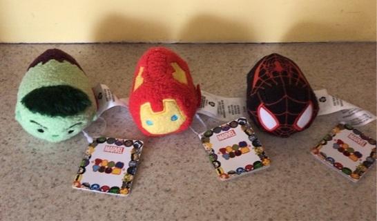 Set of 3 Marvel Tsum Tsum