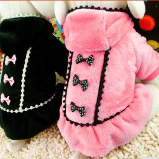 Cute Pet Dog Clothes Cute Fashion Red -Black HOT Color Dog Dress Small Dog Clothes
