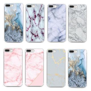 Handy Tasche Für iPhone 5S 6s 7 Plus Marmor Handyhülle Schutz Silikon Cover Case