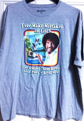 Bob Ross Painting Mistakes T-Shirt 3XL - NwoT