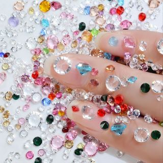 [GIN FOR FREE SHIPPING] 40g Glitter Transparent Caviar Beads Crystal Tiny AB Rhinestones Glass