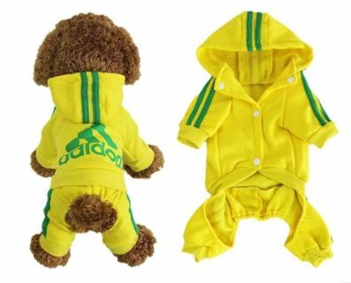 < New >Winter Coat Hoodies New Apparel 4-Legs Clothes Warm Jumpsuit Dogs Cats Puppy Pet