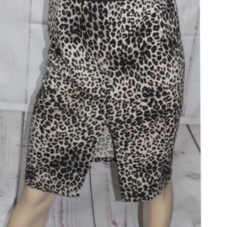 Large size Leopard skirt