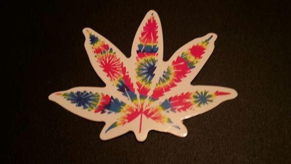 Mystical Marijuana Pot Leaf Vinyl Decal Car Laptop Skateboard Bike Sticker Bomb