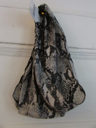 NWT- Maine Made Snake Print Head Scarf / Head Band- Black & White
