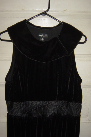 Brand New Black Velvet Dress- Sz. M- Dialogue