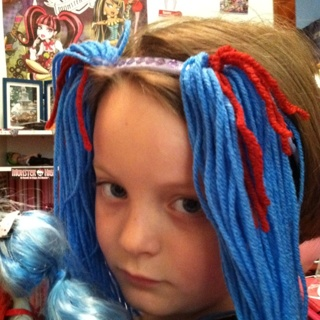 Monster High Ghoulia wig - perfect for Halloween!