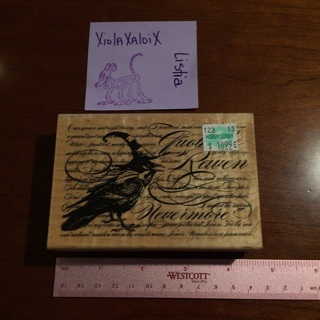 NEW QUOTE THE RAVEN NEVERMORE POE EAP stamp *GIN=FREE S/H*