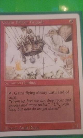 mtg ccg rev card  goblin balloon brigade  free shipping