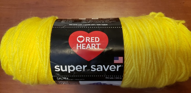 "Red Heart Super Saver Yarn - ""Bright Yellow"""