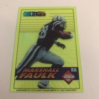 1994 Collectors Edge Marshall Faulk Boss Rookie Card