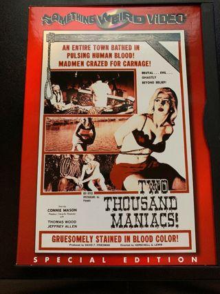 Two Thousand Maniacs (DVD) Herschell Gordon Lewis, Connie Mason, Cult Horror, Gore, Rare