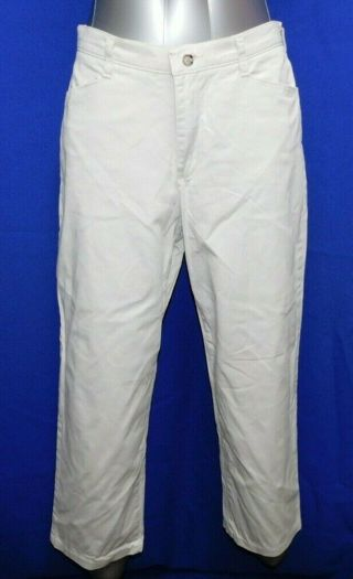 Lee (Riders) At The Waist Ladies Size 12 Off White Pants Bottoms Wide cuff