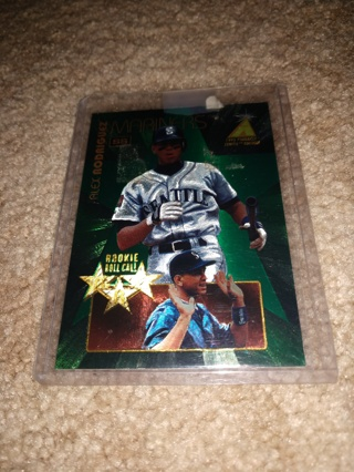 1995 Pinnacle zenith baseball Alex Rodriguez rookie Roll-call  Seattle Mariners