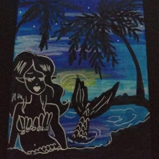 ACEO Original Mermaid Siren drawing mini painting