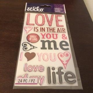 Sticko dimensional love stickers