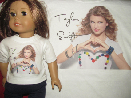 2045f11e7 Free: NEW Matching T-shirts Doll and Kids/Adult shirt Taylor Swift ...