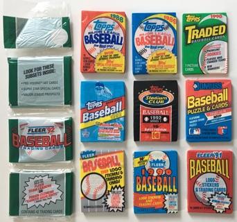 Vintage 1988-1992 Topps, Donruss and Fleer New Sealed Baseball Card Packs Lot of 10!