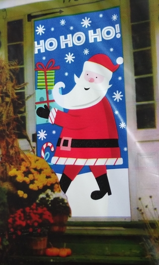 CHRISTMAS DOOR COVER DECORATION 30 INCHES X 60 INCHES LOT 12