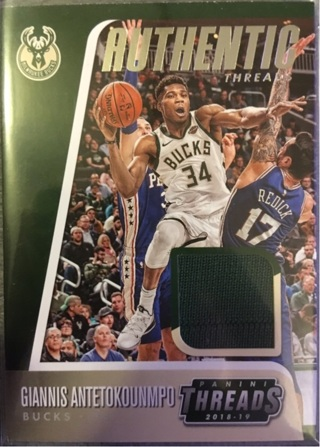 Giannis Antetokounmpo Authentic Threads Game-Used Jersey Bucks