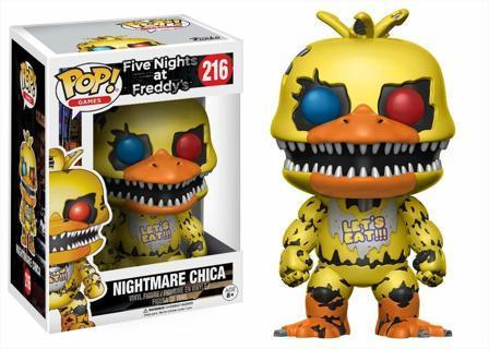 NEW Funko Pop! Five Nights at Freddy's Nightmare Chica Action Figure