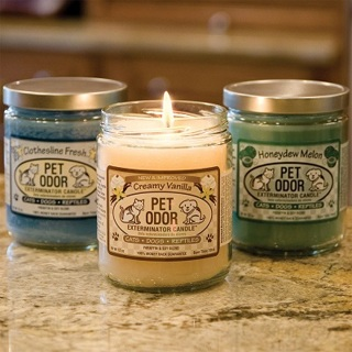 5 Pet Odor Exterminator Candles (Work on Smoke Odors Too!!!)