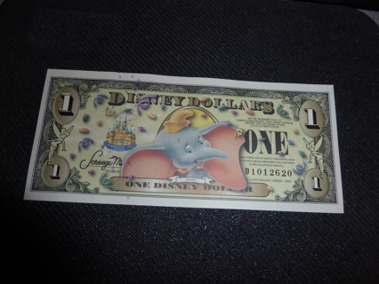 2005 Disney Dumbo Dollar Bill