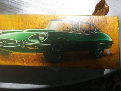 Vintage avon jaguar 2+2 in box green
