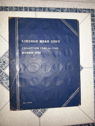 1909-1940 Lincoln Cent Set Near Complete 81out of 89 Coins in Whitman Folder