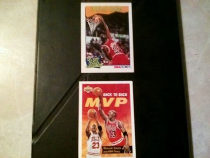Michael Jordan 2 card lot