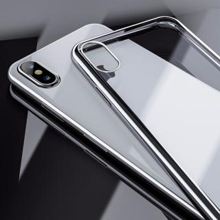 Fashion Original View Case For iPhone X XS MAX Silver Edge Transparent Clear Back Cover For iPhone