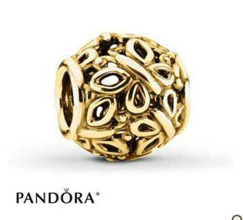 PANDORA Charm Butterfly Garden 14K Yellow Gold #750895